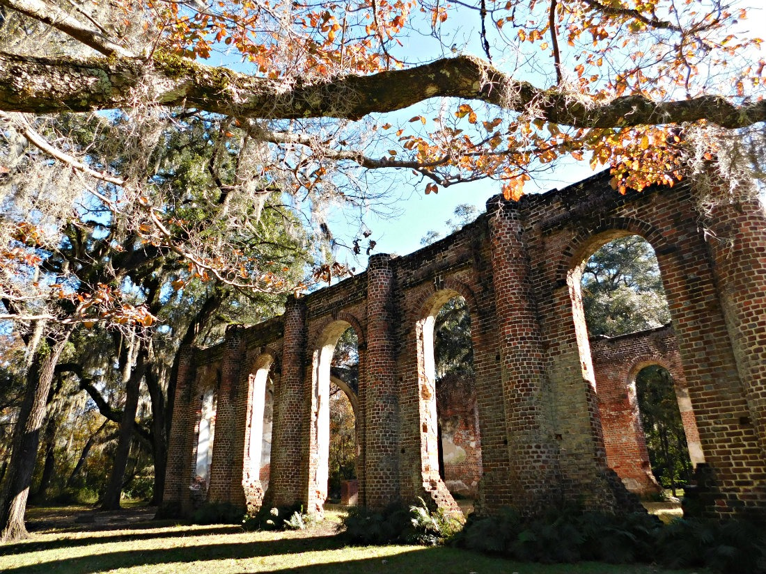 Exploring the Old Sheldon Church Ruins in South Carolina during Month Forty Two of Digital Nomad Life