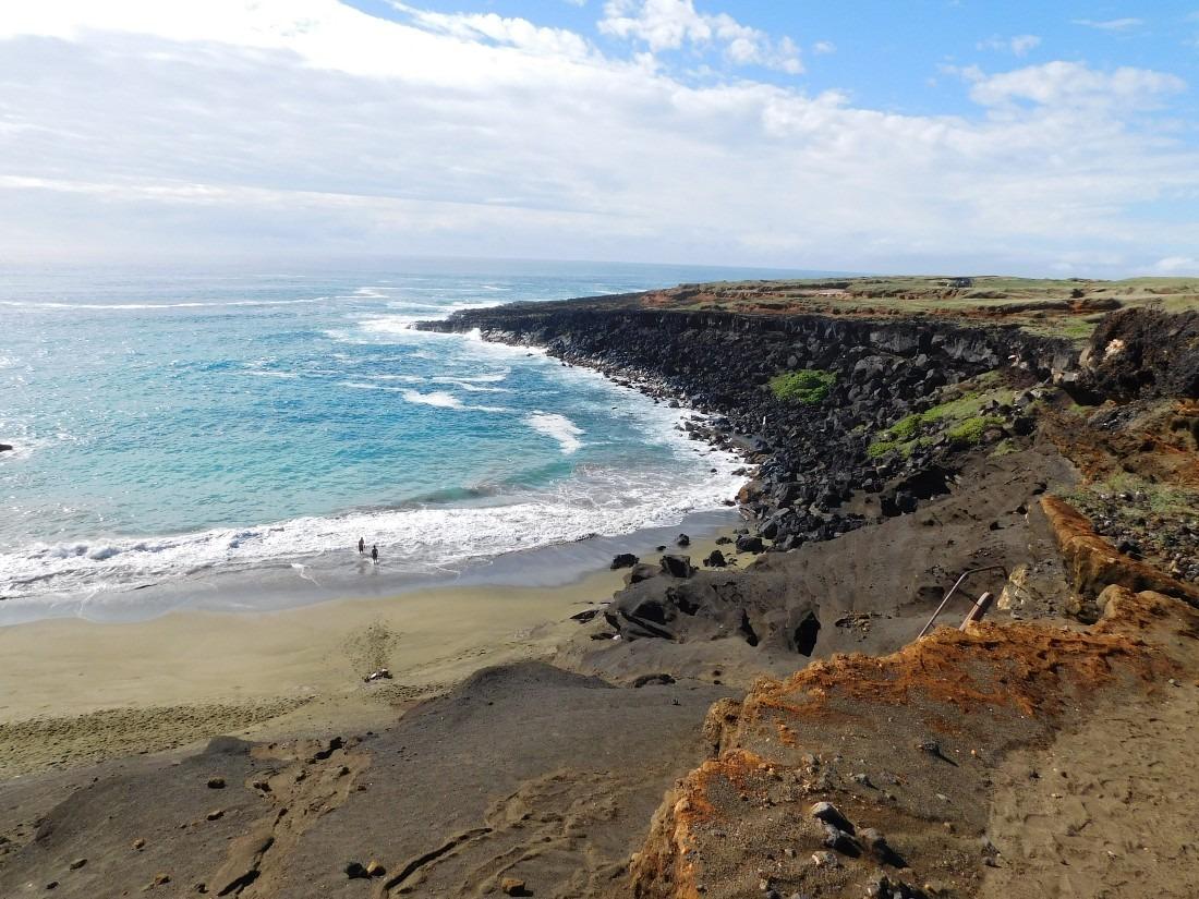 Green Sand Beach on the Big Island of Hawaii
