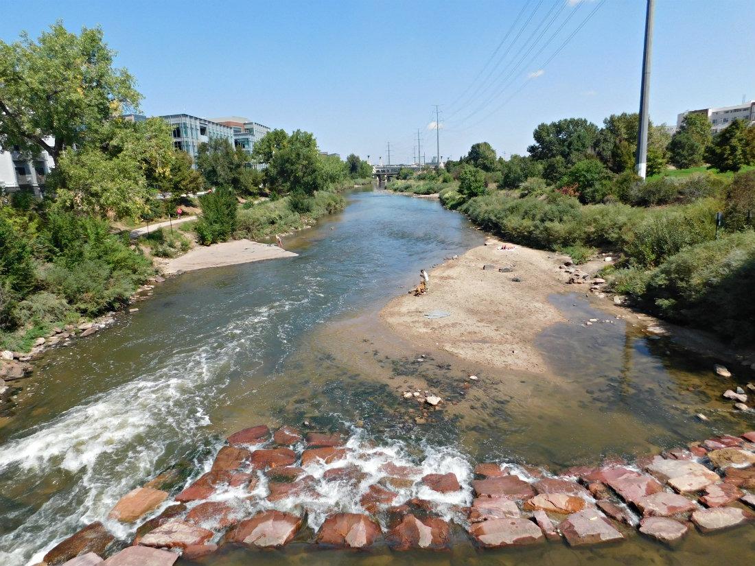 Platte River in downtown Denver
