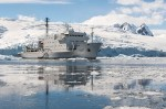 The ship Akademik Ioffe at Portal Point