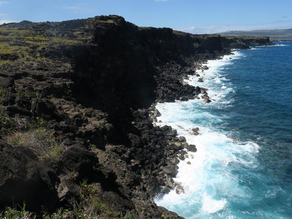 Easter Island Coastline Rocky Cliffs Easter Island, Rapa Nui, Hanga Roa, Vanuatu, Isla de Pascua, Chile, South America