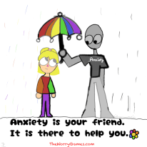 "Anxiety is a normal response. However, quite often and unknowingly, to ourselves AND our anxiety, the source of our anxiety becomes the anxiety itself. This is where the ""disorder"" part comes in. Always remember that anxiety is one of the good guys and refuse to look at it, or it's symptoms, as your enemy. - AnnaLisa Scott"