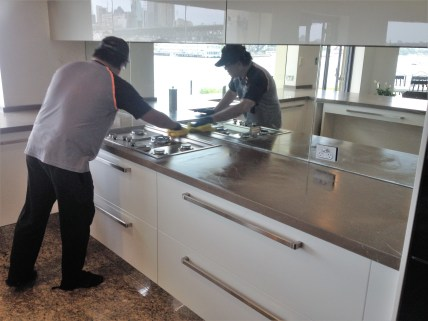 Honing marble counter top