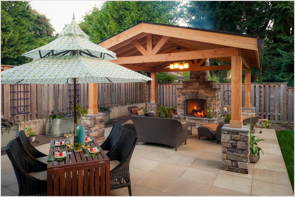 35 Outdoor Living Space For Your Home - The WoW Style on Backyard Outdoor Living Spaces id=95180
