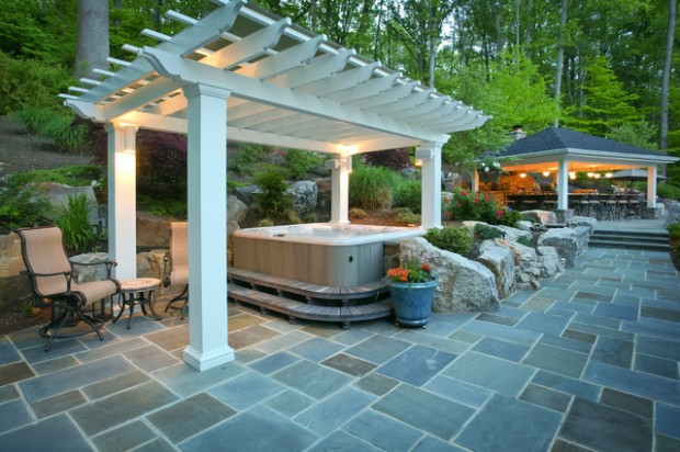 35 Outdoor Living Spaces with Hot Bathing Experience - The ... on Outdoor Living Spa id=21656
