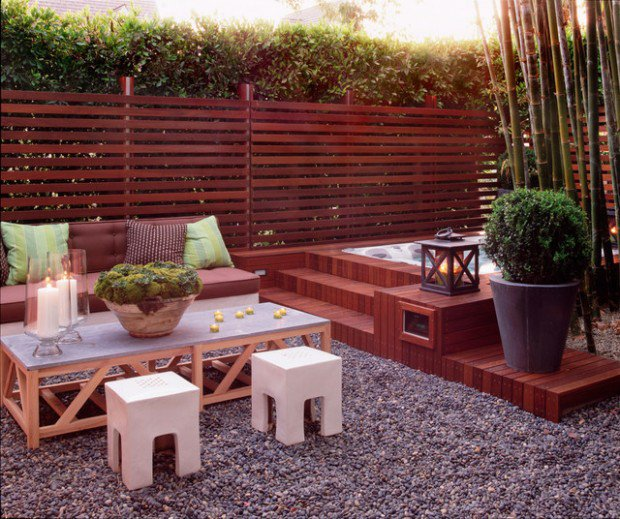 35 Outdoor Living Spaces with Hot Bathing Experience - The ... on Outdoor Living Spa id=48247
