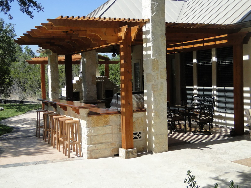 30 Rustic Outdoor Design For Your Home - The WoW Style on Outdoor Kitchen And Fireplace Ideas id=36875