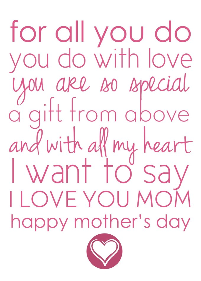 mothers day poem to her son textpoems org