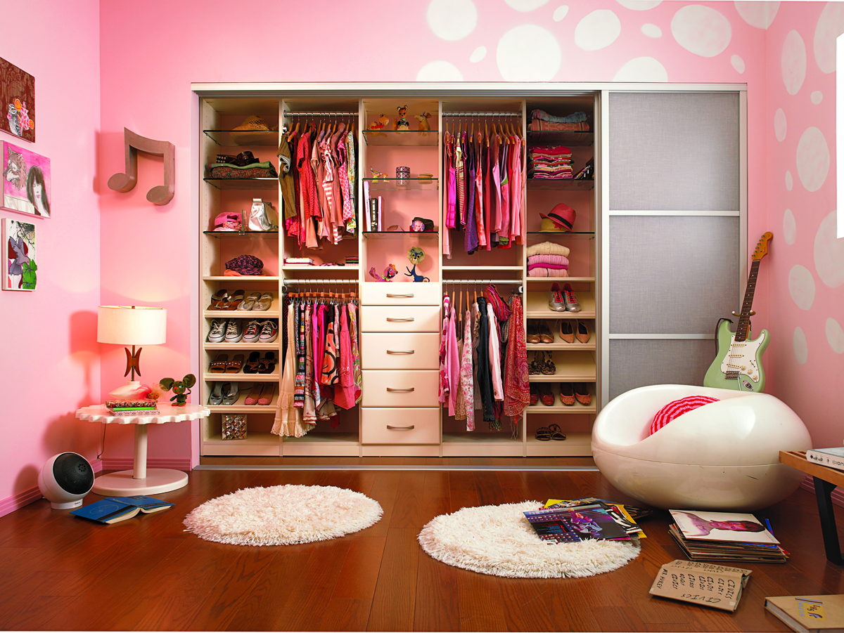 Gorgeous Colorful Walk In Closet Designs
