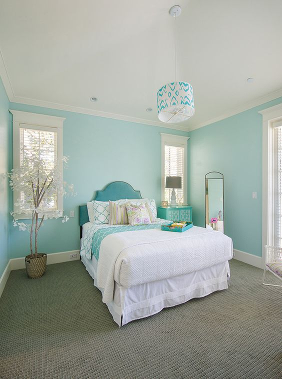 Take your beauty sleep to the next level with these dreamy bedroom design ideas. 21 Breathtaking Turquoise Bedroom Ideas – The WoW Style