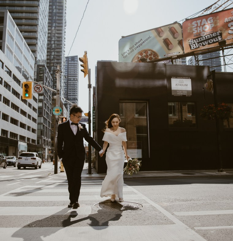 toronto, chic downtown wedding during covid-19