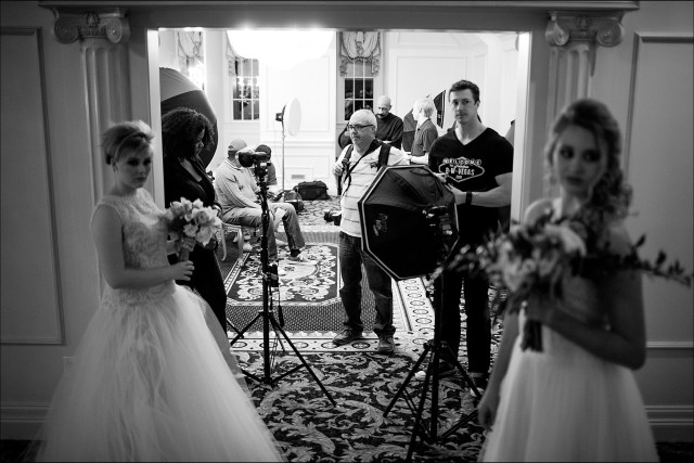 Wedding photography workshop staging area NC