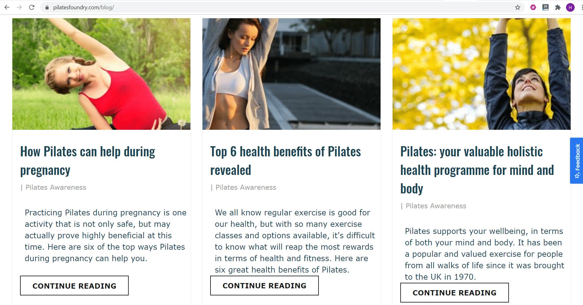 Freelance Copywriter For Pilates Studio Health Wellness Business
