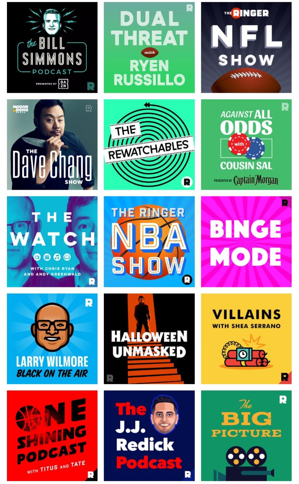 Ringer podcasts