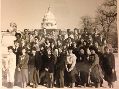 Part of the Presidential Classroom class of February 20-26, 1984.