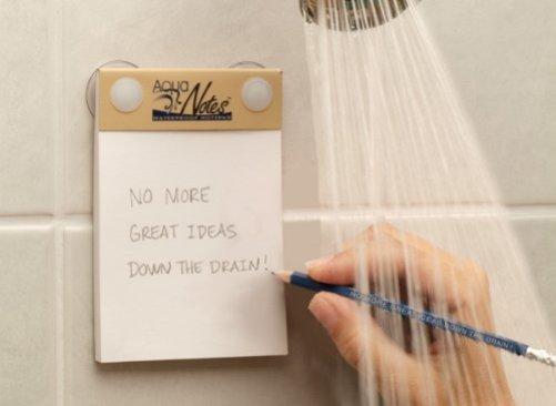 Aqua Notes, fikirleri kaydetmek için duşta bir not defterine yazmanıza izin verir