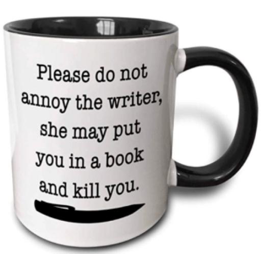 Yazarlar hakkında şaka ile kahve kupa