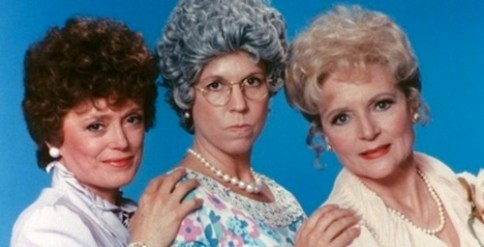 Rue McClanahan, Vicki Lawrence, and Betty White in Mama's Family.