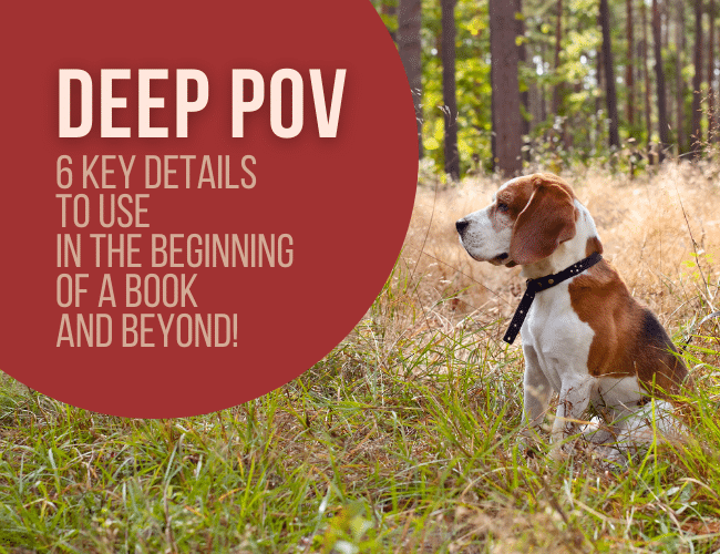 Deep POV: 6 Key Details to Use in the Beginning of a Book (and Beyond!)