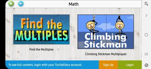 ألعاب الصف الثالث أو 3rd Grade في تطبيق Turtle Diary