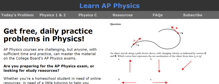 موقع Learn AP Physics