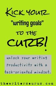 Writing Goals vs Writing Tasks