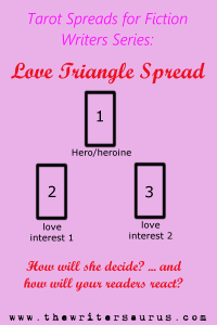 Tarot Spread for Writers: The Love Triangle Spread, only on The Writersaurus