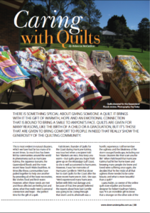 Copywriting sample for Down Under Quilts magazine