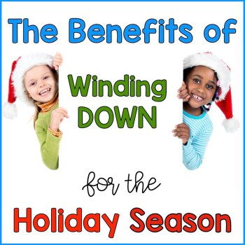Wind down not up for the holiday season