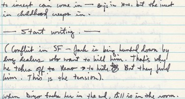 Journal Cojones 6 start writing