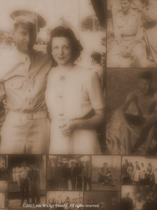 photograph of a family photo montage