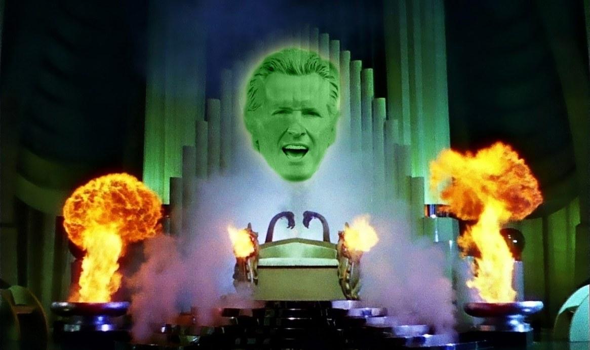 Gavin Newsom as the Wizard of Oz
