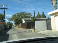 When I was in LA in 2008, I did a drive by to see the old digs. The neighborhood was changing and the back fence was tagged. =(
