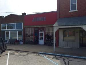 """Our old dime store is now a """"Junque"""" shop."""