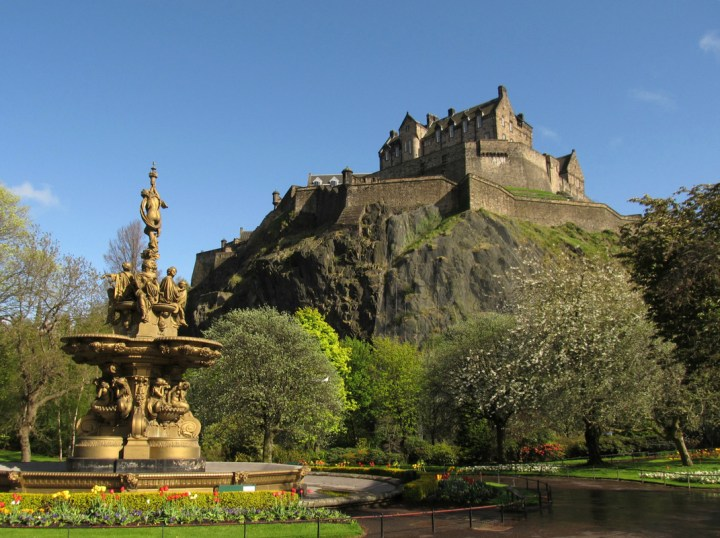 View of Edinburgh Castle from Princes Street Gardens