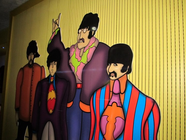 Beatles caricatures at Submarino Amarillo