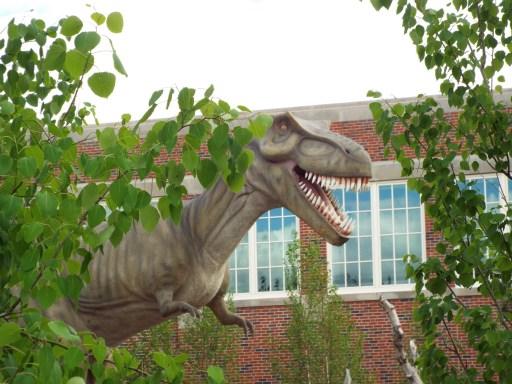 Animatronic dinosaur at South Dakota Children's Museum
