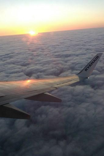 Plane over the Mediterranean