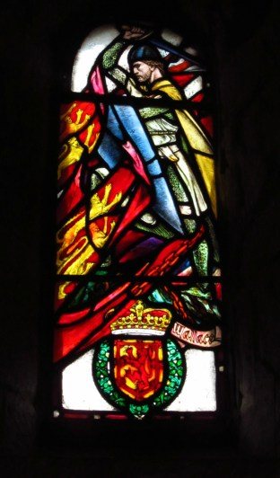 Stained glass at St. Margaret's Chapel