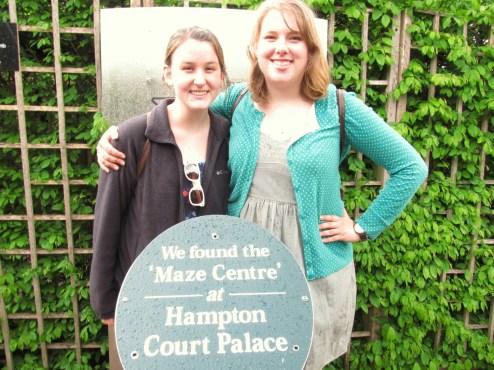 Maze centre at Hampton Court