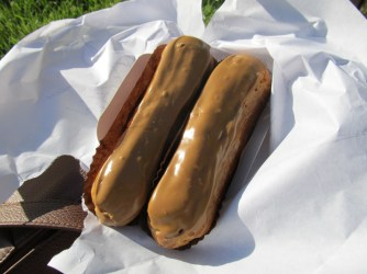 Butterscotch eclairs