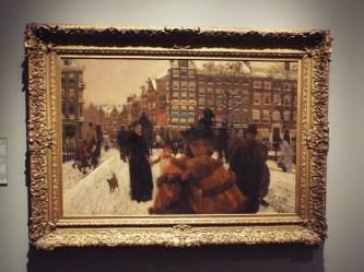 """""""The Singel Bridge at the Paleisstraat in Amsterdam"""" by George Hendrik Breitner"""