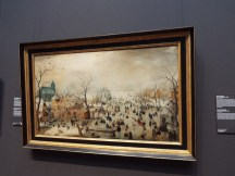 """""""Winter Landscape with Ice Skaters"""" by Hendrick Avercamp"""