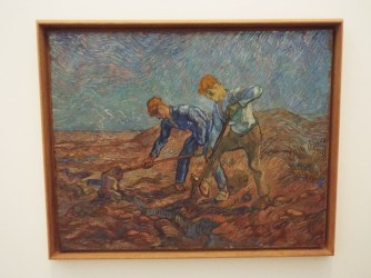 """Two Peasants Digging"" by Vincent Van Gogh"