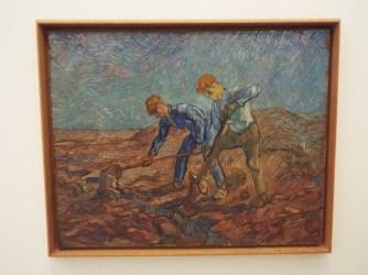"""Two Peasants Digging"" by Vincent Van Gogh"