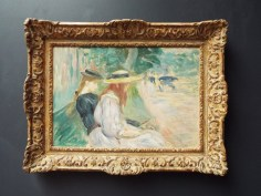 """The Lake in the Bois de Boulogne"" by Berthe Morisot"