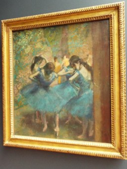 """Dancers in Blue"" by Edgar Degas"