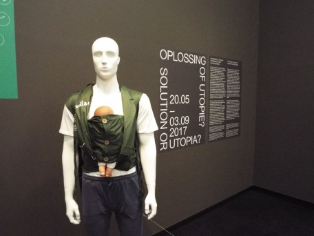 """There was also an exhibition called """"Solution or Utopia?"""" which was about some of the different products that have been made to help with the refugee crisis"""