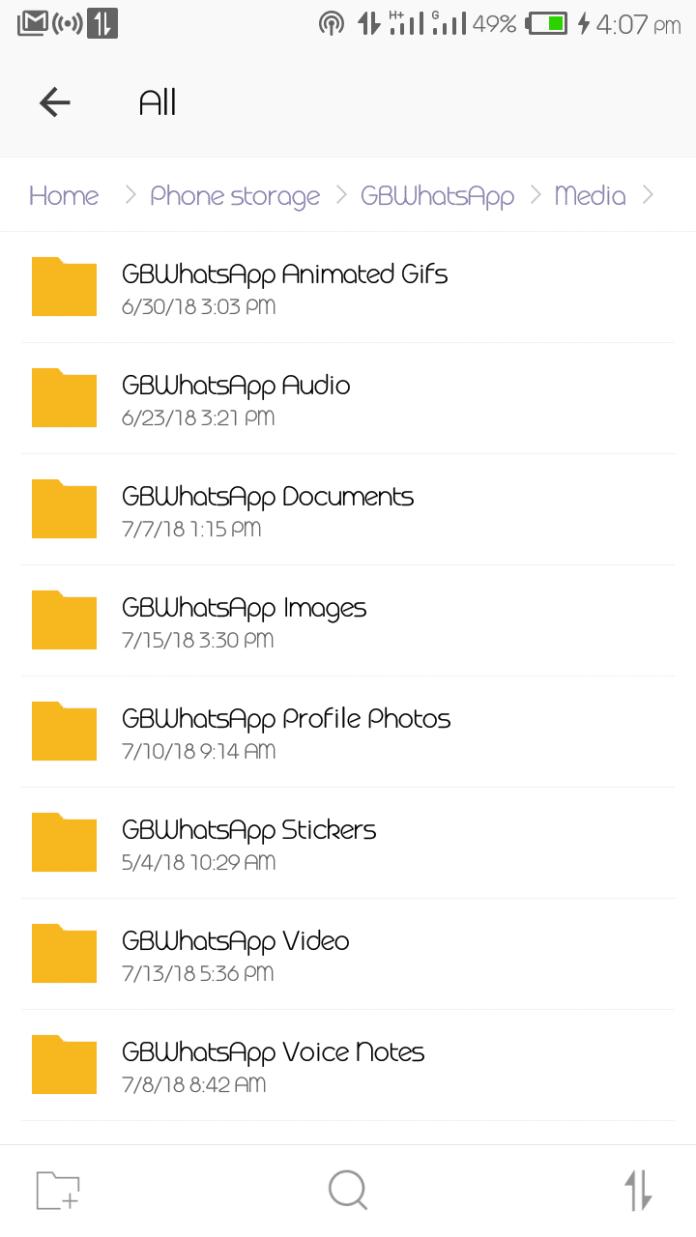 GBWhatsApp Folder Name