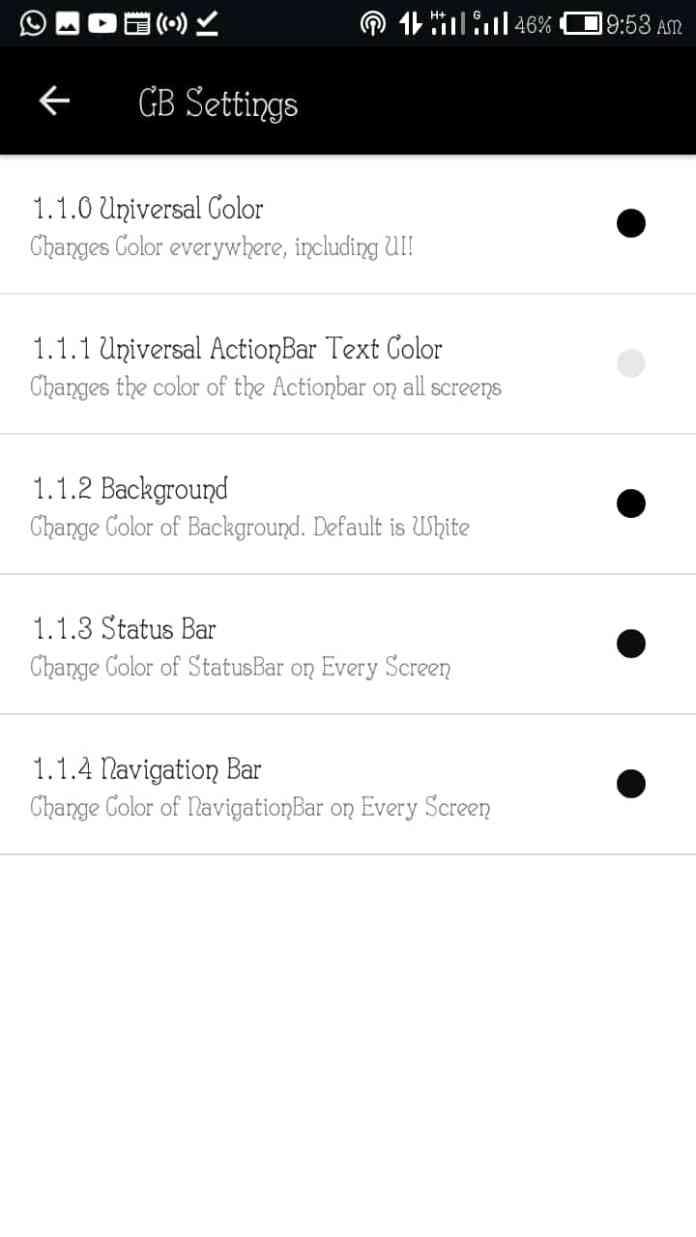 New WhatsApp Plus, GB WhatsApp and OG WhatsApp Colors